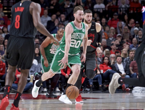 Boston Celtics' Gordon Hayward wishes Caris LeVert well, offers support after gruesome ankle injury