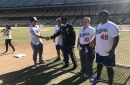 Active Duty Service Members, Veterans Step Into Dodgers Star Justin Turner's Shoes By Taking Batting Practice At Dodger Stadium At Special Event