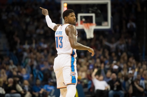 Paul George supports former teammate Carmelo Anthony