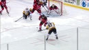 Sidney Crosby times his pass perfectly to set up Phil Kessel