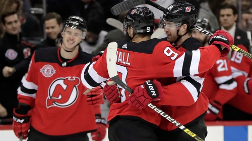Taylor Hall has 2 goals, 2 assists as Devils beat Penguins