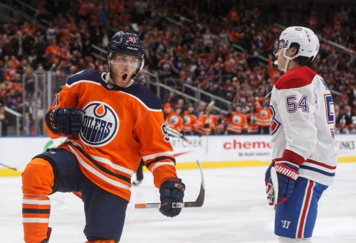 Oilers snap losing skid with dominant win over Habs