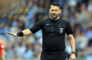 A referee who played rock, paper, scissors to decide kick-off has been suspended