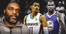 Trae Young's dad, Ray Young, reacts to his son's first game vs. Warriors' Kevin Durant