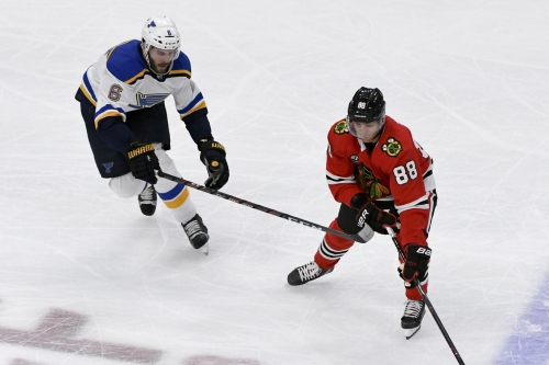 Blackhawks look to end 8-game slide when they host the Blues
