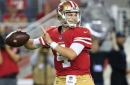Nick Mullens remains starting QB despite spotty performance against Giants