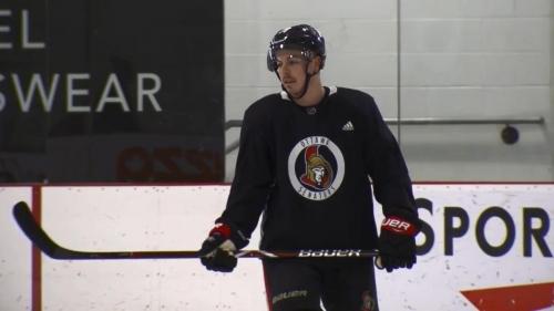 Boucher hopeful Pageau skating means early Senators return
