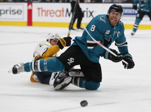 Sharks notes: Hertl questionable for Thursday; Marleau's return; Pavelski's play