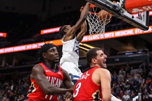 Wolves 107, Pelicans 100: A Team Effort