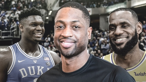 Heat star Dwyane Wade reacts to Zion Williamson's eerily-similar dunk to LeBron James'