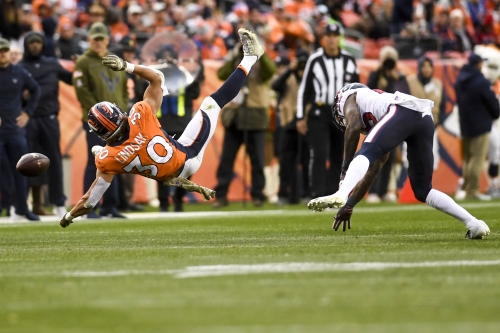 "Broncos Insider: Phillip Lindsay reacts to first crushing NFL tackle — ""I just need my head on a swivel"""