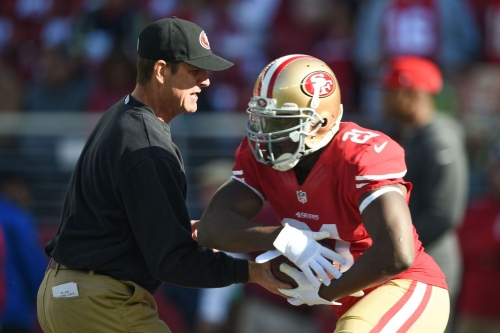 Jim Harbaugh says Frank Gore is his favorite player he's ever coached