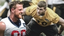 Steelers LB T.J. Watt hopes to beat brother J.J. Watt in sack race
