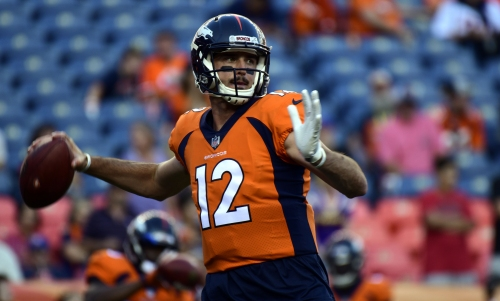 Former Broncos QB Paxton Lynch works out for the Dolphins, where Brock Osweiler now starts