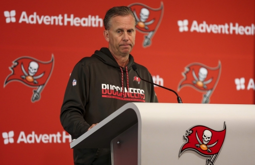 Bucs' Todd Monken on decision to play Ryan Fitzpatrick: 'We keep our jobs by winning'