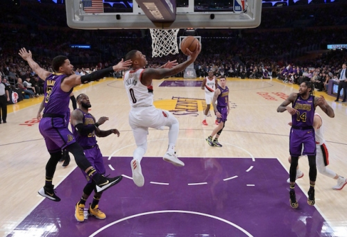 Trail Blazers' Damian Lillard Impressed With Talent On Lakers Roster, LeBron James' Historic Night