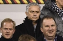 Manchester United manager Jose Mourinho spotted at Belgium vs Iceland game