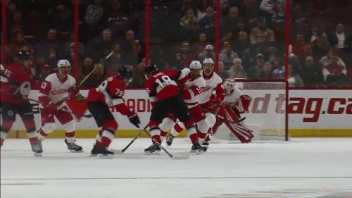 Senators' Drake Batherson gets first NHL goal in first game