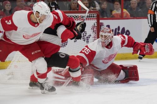 Detroit Red Wings' win streak ends in Ottawa vs. Senators, 2-1