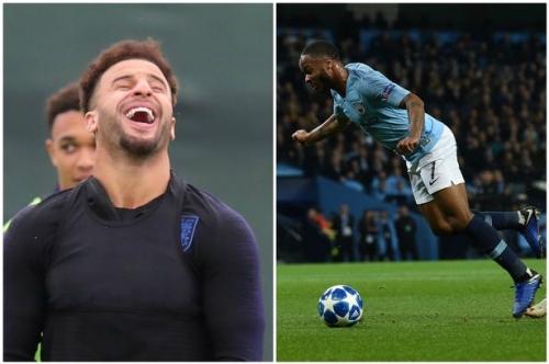 Raheem Sterling trolled by Man City teammate Kyle Walker over Shakhtar penalty