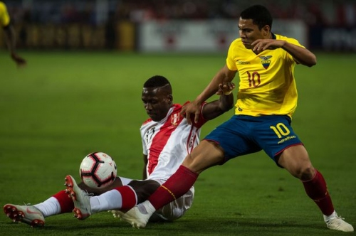Swansea City's Jefferson Montero subbed after just 35 minutes during Ecuador friendly