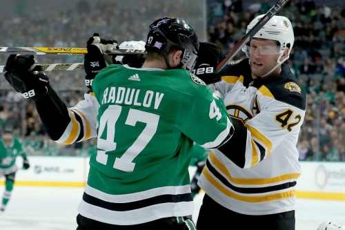 Jason Dickinson plays OT hero again in Stars' chippy victory over Bruins