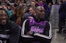 WATCH: KG courtside as Wolves debut Prince-inspired jerseys
