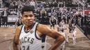 Video: Bucks' Giannis Antetokounmpo throws down brutal follow-up dunk vs. Bulls