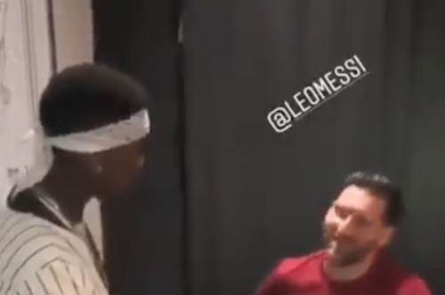Paul Pogba spotted with Lionel Messi and Manchester United fans are all saying the same thing