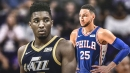 Donovan Mitchell reacts to his salty shooting in loss vs. Sixers