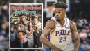 Jimmy Butler recreates Moses Malone's iconic Sports Illustrated cover
