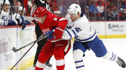 Maple Leafs loan forward Trevor Moore to AHL's Marlies