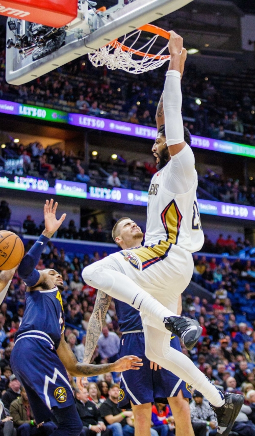 Anthony Davis notches back-to-back 40-point games to lead Pelicans over Nuggets