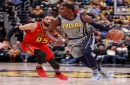 Pacers ride rookie Aaron Holiday to beat Hawks after losing Victor Oladipo to injury
