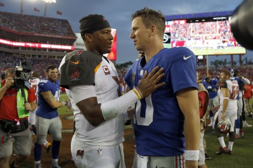 Vegas odds for Bucs, Giants