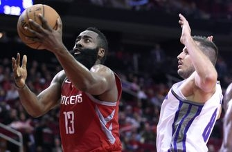 Harden nets 34, Rockets win 4th straight 132-112 over Kings