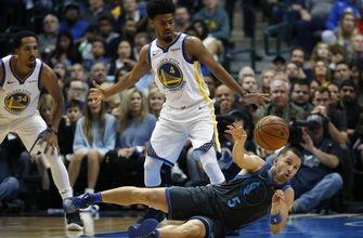 Doncic leads Mavericks over short-handed Warriors 112-109