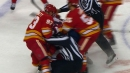 Kassian attacks Tkachuk for another Oilers, Flames brawl