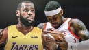LeBron James defers to Lakers front office on whether to pick up Carmelo Anthony or not