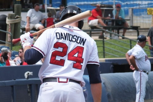 Braves News: Braxton Davidson hits walk-off then has to be helped off