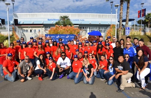 Kenley Jansen, Dodgers And Los Angeles Dodgers Foundation Host 14th Annual Thanksgiving Turkey Giveaway At Dodger Stadium