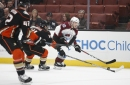Injury-depleted Ducks squander two-goal lead, fall to Avalanche in overtime