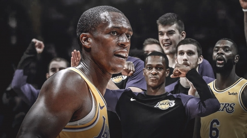 Rajon Rondo back with Lakers following hand surgery