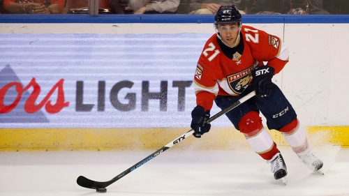 Panthers' Trocheck taken off ice on stretcher after fall vs. Senators