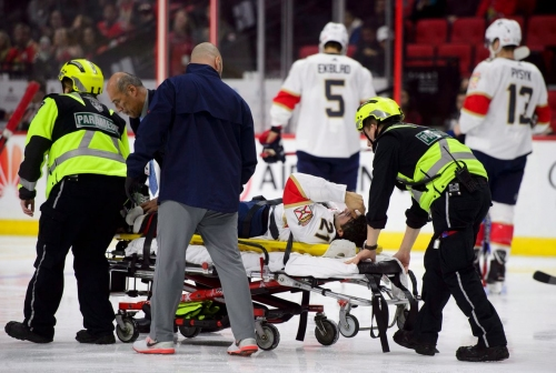 Senators rattled by Panthers, miscues on strange night