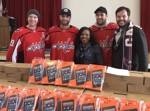 PHOTOS: Washington Capitals visit at DC school came with some surprises