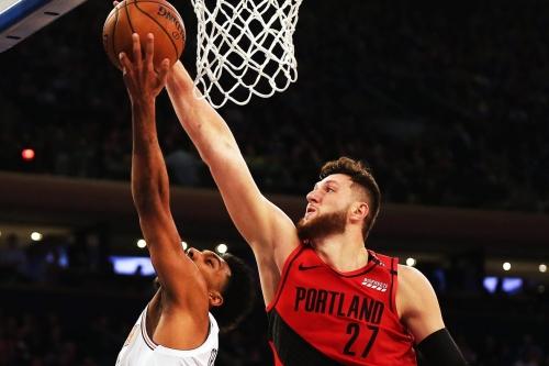 Blazers Survive Sharpshooting Knicks
