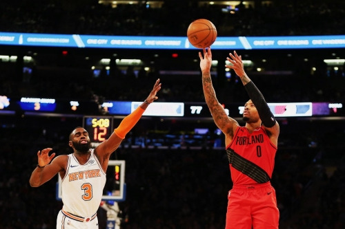 Turner Put-back Seals the Victory for the Blazers over the Knicks