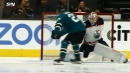 Sharks welcome Ken Hitchcock to Oilers with goal 45 seconds in