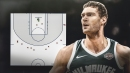 Brook Lopez makes NBA record for most 3-point attempts without a make